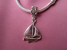 подвеска для Пандора: яхта, парусник, шарм - паруса